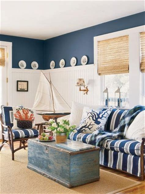Wicker Lamp Shade by Diy Nautical Look Interior Design For Living Room