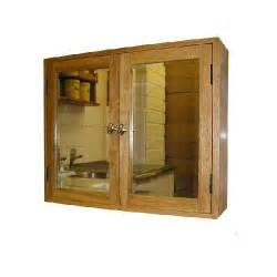 solid oak bathroom wall cabinet