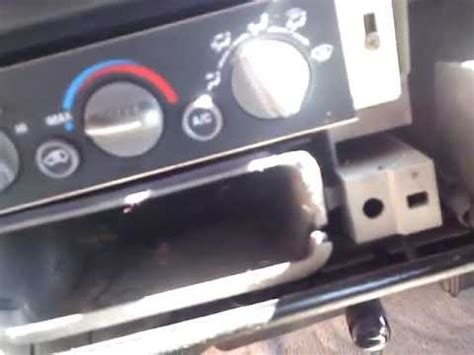 heater a/c control panel replacement youtube