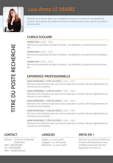 Lebenslauf Doc by Exemple De Cv Doc Ptt Gratuit 224 T 233 L 233 Charger