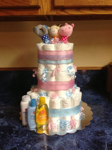 Gender reveal diaper cake   Gift Ideas   Pinterest   Cakes