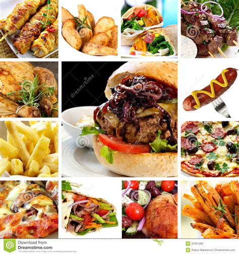 Fast Food Collection Stock Photo Image Of Hamburger Fast Food Collage