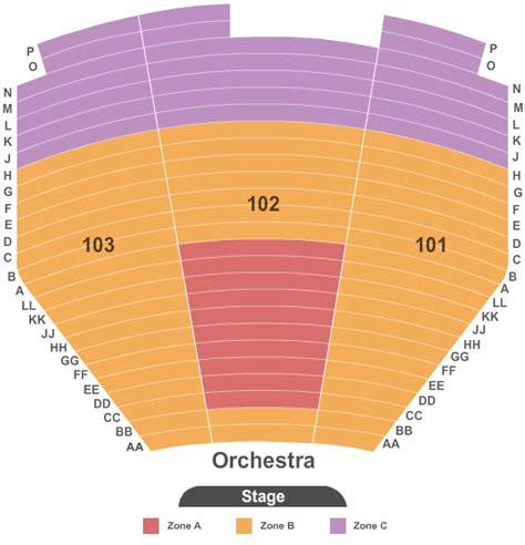 the mirage seating chart concert venues in las vegas nv concertfix