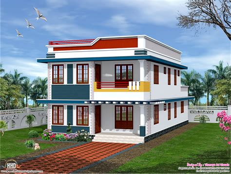 house flat design 2325 sq feet flat roof house elevation kerala home