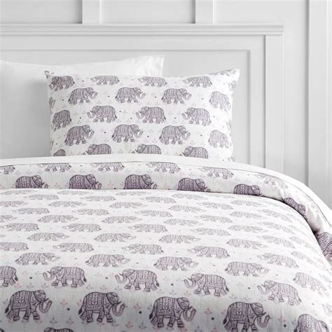 Flannelette Single Duvet Cover Winter Elephant Flannel Duvet Cover Sham Pbteen
