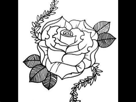 new skool rose tattoo how to draw a new skool style part 1