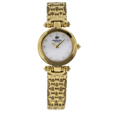 raymond weil 18k gold electro 5868 of pearl