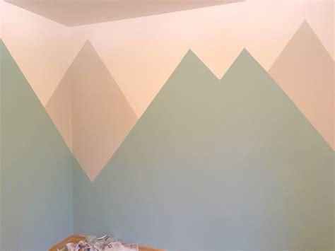 kinderzimmer berge deko berglandschaft kinderzimmerwand kreativsein