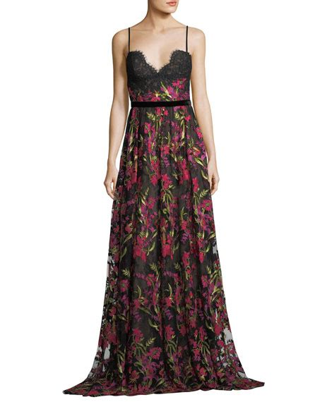 Sleeveless Evening Gown marchesa notte sleeveless floral embroidered evening gown