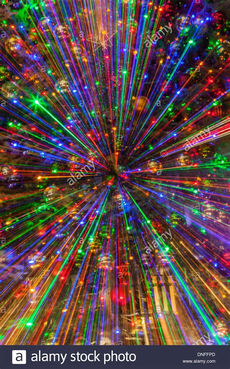 special zooming effects with christmas lights in downtown
