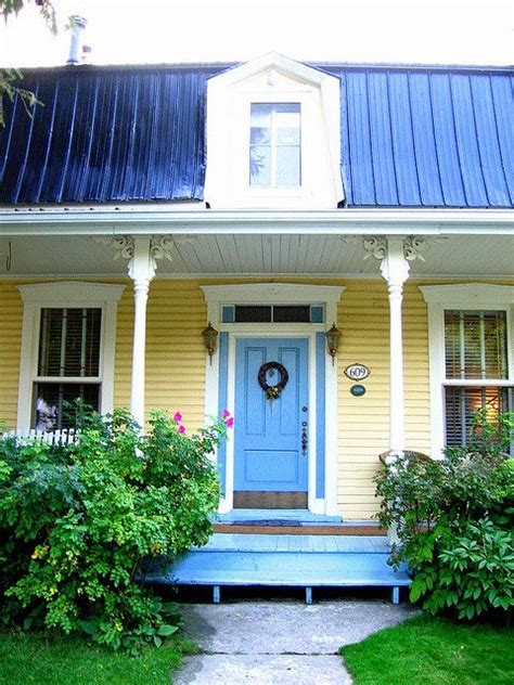 Yellow House With Blue Door | yellow house blue door google search dream home