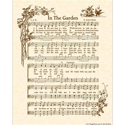 Song In The Garden by In The Garden Hymn Christian Home Decor Vintageverses