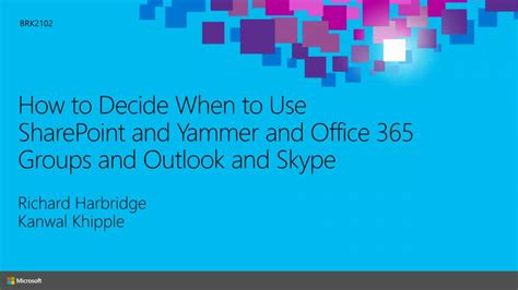 Office 365 Outlook Linux How To Decide When To Use Sharepoint And Yammer And Office