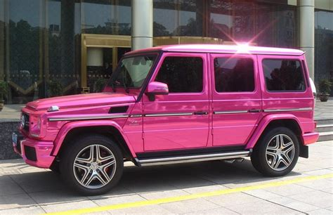 pink g wagon mercedes g63 amg pink chrome wrap in china autoevolution