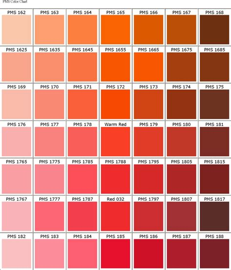 orange shades names image gallery orange pantone color names