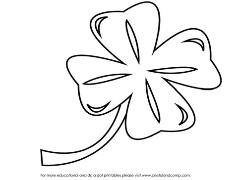 4 leaf clover coloring page az coloring pages