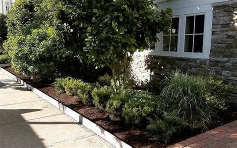 Landscape Design Quincy Ma New Plantings And Granite Edging Gallagher Landscaping