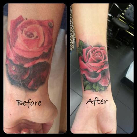 watercolor tattoos before and after re work before after inspiration