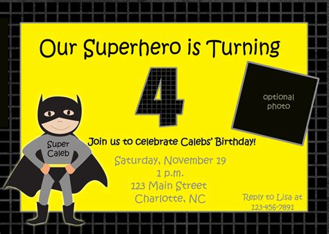batman invitation card template batman birthday invitations templates ideas batman