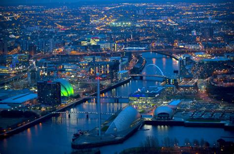 Britain From Above Aerial Shots Show Off The Beautiful Glasgow Lights