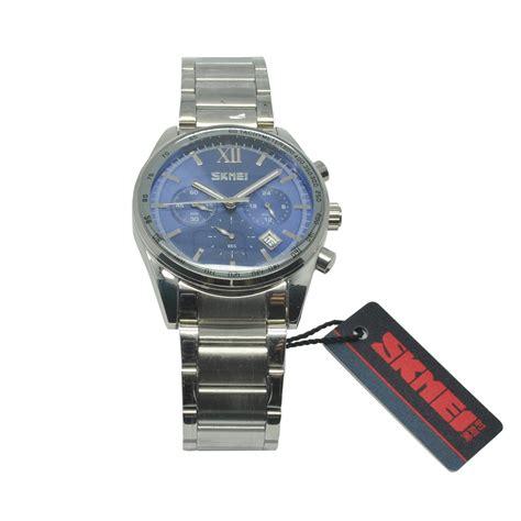 Komponen Jam Tangan Analog skmei jam tangan analog pria 9096cs blue jakartanotebook