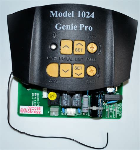 Overhead Door 1026 Programming Genie Garage Door Opener Model 1024 Genie 1024 Logic Board Genie 1024 Garage Door Opener