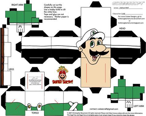 Papercraft Luigi - vg 5 fireball luigi cubee by theflyingdachshund on deviantart
