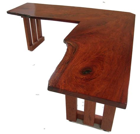 Office Desk Hardwood Wooden L Shaped Desk Office Furniture