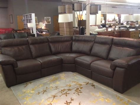 natuzzi leather sectional recliner b757 reclining sectional by natuzzi editions labor day sale