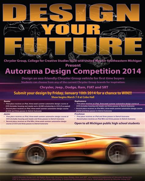 dodge design contest chrysler launches design competition for michigan high