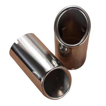 2pcs stainless steel chrome exhaust muffler tip pipes for