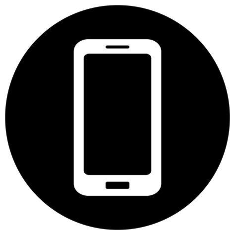 black mobile clipart mobile icon white on black