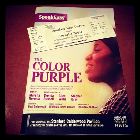 color purple tickets 2014 01 16 the color purple program and ticket the