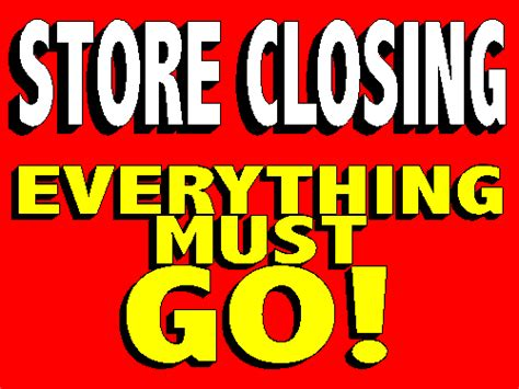 3 Into 1 Must Go by Store Is Closing Everything Must Go