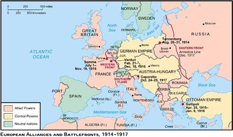world war 1 map of europe ww1 map of europe