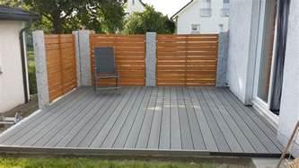 kunststoff terrasse terrassenholz kunststoff genial wpc holzterrasse