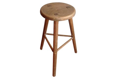 Vintage Wooden Stool by Italian Vintage Wooden Stool Omero Home