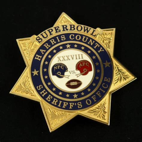 Harris County Sheriff Number Search Lot Detail 2004 Bowl Xxxviii Harris County Sheriff S Office Badge