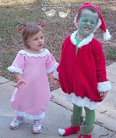 diy grinch and lou who so the grinch and lou who costumes costume ideas and lou