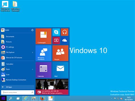 imagenes de inicio windows 10 novedades de windows 10 technical preview