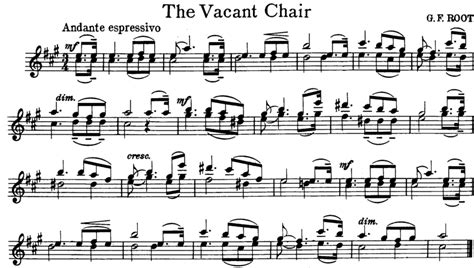 The Vacant Chair by The Vacant Chair Free Violin Sheet