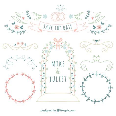 cute wedding decoration vector free download hand drawn cute wedding decoration vector premium download