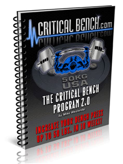 critical bench press chart bench press program increase your bench press routine