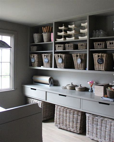 craft room  pantry gray pantry  grey cabinets open