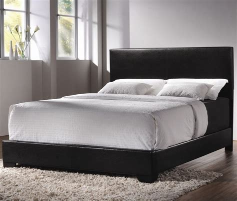 modern queen size leather upholstered bed frame bedroom
