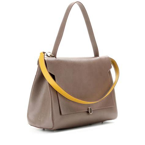Anya Hindmarch Beverly Shoulder Bag by Anya Hindmarch Bathurst Leather Shoulder Bag In Gray