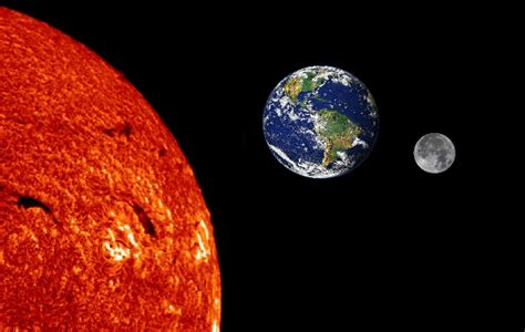 Earth Moon And Sun sun moon and earth nasa page 4 pics about space