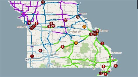 modot road conditions map modot on quot road conditions worsening across state many areas receiving snow