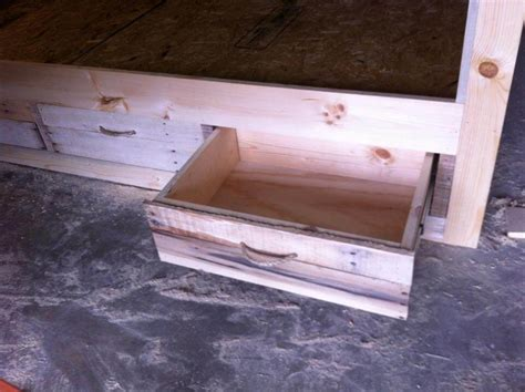 diy pallet bed with drawers pallet bed and headboard with storage pallet furniture diy