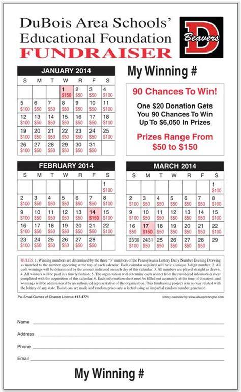 Lottery Calendar Fundraiser Template Calendar Template 2018 Fundraising Calendar Template Free